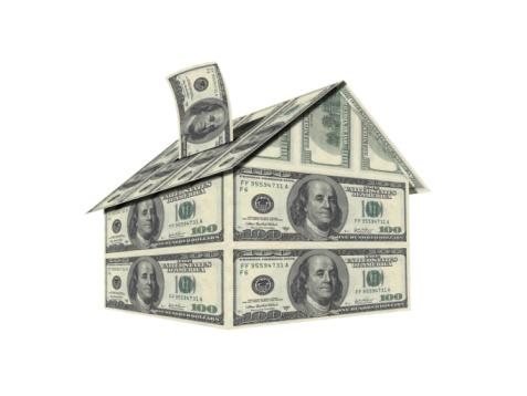 House made of 100 dollar bills
