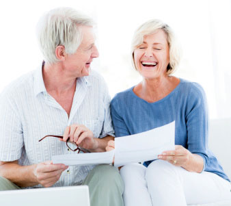 older couple receiving good news