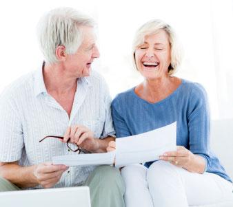 older couple receiving good news