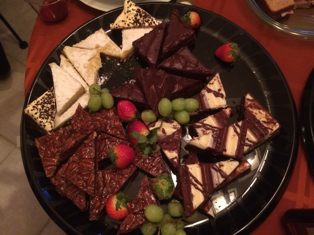 Dessert tray from The Fresh Market