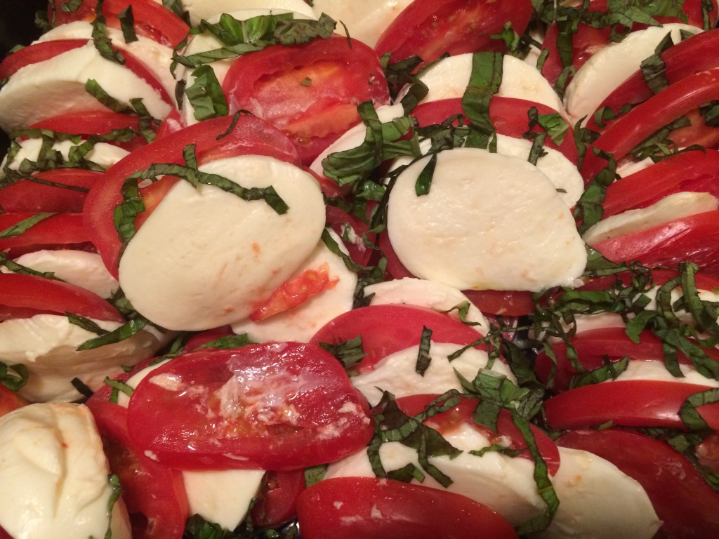 Housewarming Caprese tray from Trattoria Pasquale in Tampa