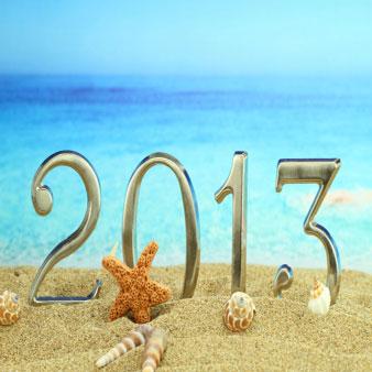 2013 on a beach